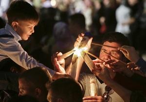 В Киеве во время Пасхальных богослужений грубых нарушений общественного порядка не зафиксировано