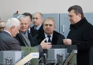 Янукович: Украина будет строить собственный ракетный комплекс