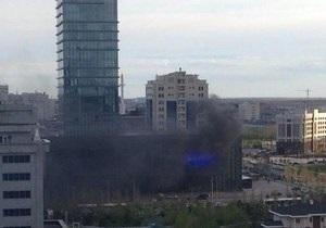 Новости Казахстана - новости Астаны - В столице Казахстана горит медиа-центр: сотни человек эвакуированы - пожар в Астане