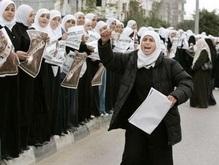 50 тысяч палестинских женщин и детей выстроились в живую цепь