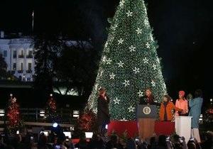 Все готовы? Обама зажег огни на национальной елке