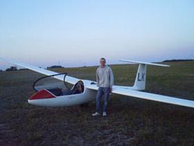 Польского планериста занесло ветром в Украину