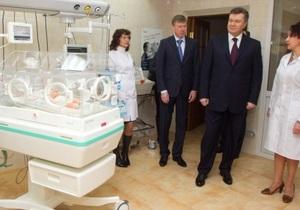 Перинатальный центр в Кировограде, открытый Януковичем в январе, заработает только в марте