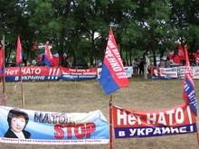 Противники НАТО восстановили палаточный городок под Одессой