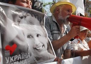 В Жашкове неизвестные похитили шесть ситилайтов с изображением Тимошенко