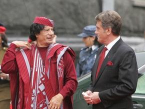 Ющенко доволен визитом Тимошенко в Ливию