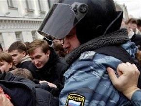 Акция оппозиции в Москве завершилась задержанием участников