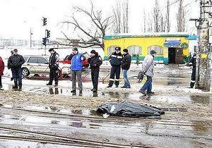В Киеве трамвай переехал женщину и скрылся с места происшествия