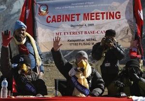Правительство Непала провело заседание на Эвересте