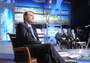 Ющенко сегодня придет на Шустер Live