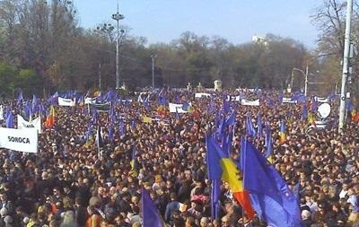 В Кишиневе прошел стотысячный митинг в поддержку евроинтеграции
