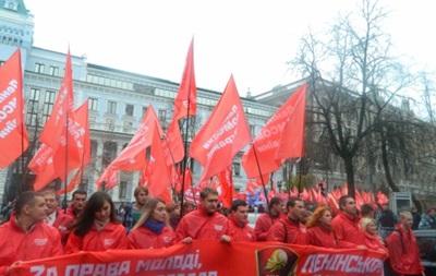 Во Львове марш в честь годовщины революции сопровождался перепалками между левыми и правыми