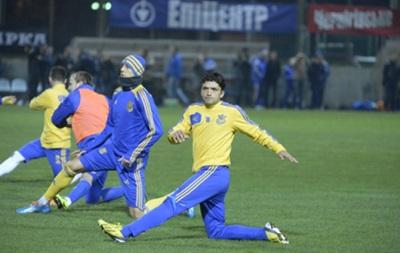 Все футболисты сборной Украины тренируются в общей группе
