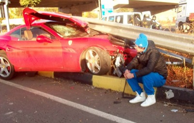 Милевский попал в аварию в Турции