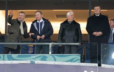 Фотогалерея. Как Янукович, Кучма и Кравчук за сборную Украины болели