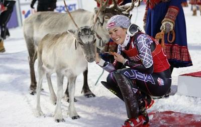 В Финляндии горнолыжникам за победу подарили северных оленей