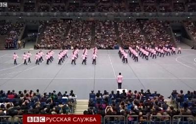 Синхронная ходьба - спорт студентов в Японии