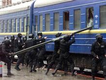 В России разбили окна поезда Москва-Сумы