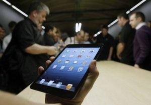 После презентации iPad mini акции Apple упали почти на 3%