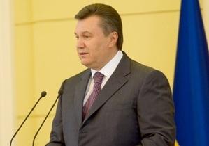 Янукович поздравил украинцев с Первомаем