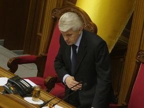 Литвин прогнозирует досрочные выборы в ВР уже в мае 2010 года