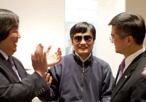 Слепой диссидент Чэнь заявил, что хочет покинуть Китай