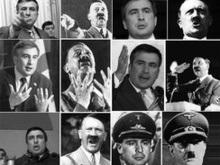 В Крыму сожгли портреты Саакашвили и Гитлера
