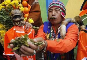Путин выступил против жевания листьев коки в Боливии