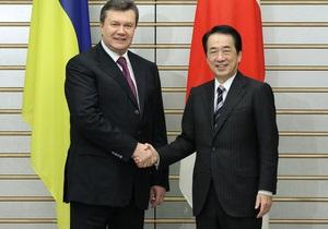 Янукович и премьер Японии поручили чиновникам изучить возможность упрощения визового режима для украинцев