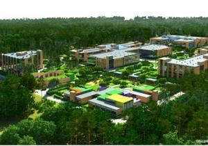 В Конча-Заспе начали строительство элитной школы-интерната
