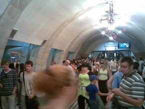 В Киеве на станции метро Лыбидская произошел пожар
