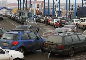На украинско-белорусской границе образовались длинные пробки