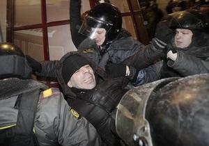 В Москве  во избежание провокационных действий  задержали 68 участников митинга