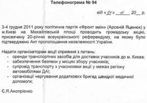 Фронт змін обвинил окружение Януковича в  грязных технологиях  против Яценюка