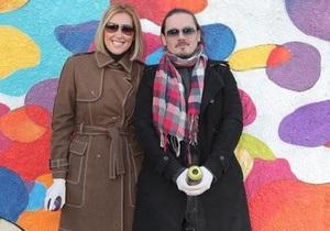 Фагот и Клочкова приобщились к созданию огромного граффити в центре Киева