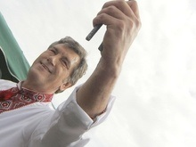 Ющенко на Говерле откроет скульптуру Трезуб