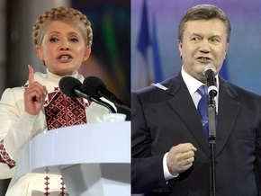 Опрос: Рейтинг Тимошенко вырос почти на 7%, а Януковича - на 4%