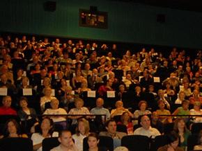 В Украине в 2009 году посещаемость кинотеатров выросла на 40%