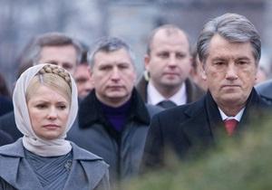 Тимошенко рассказала Ющенко о риске прихода к власти  антиукраинской клики