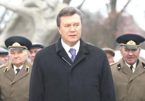 Янукович торжественно примет под командование Вооруженные силы Украины