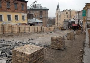 Компания Ахметова привлекла археологов к работам на Андреевском спуске