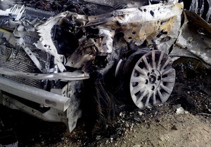 В Киеве горели Mitsubishi и Opel
