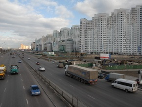 На одном из проспектов в Киеве из-за ДТП образовалась многокилометровая пробка