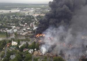 Фотогалерея: Смертоносный состав. Взрыв поезда с нефтью в Канаде