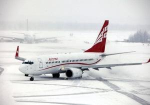 Прибывший в Москву самолет Georgian Airways был загружен лишь наполовину