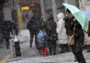 Новости США - снежная буря - непогода в США: В пяти штатах США объявлен режим ЧС