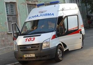 В Киеве бетономешалка врезалась в автобус