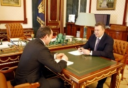 Янукович встретился с Тигипко: Президент намерен облегчить жизнь малому бизнесу