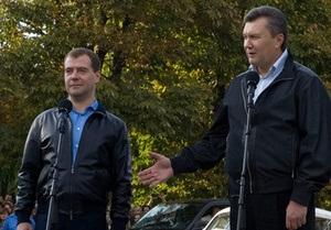В понедельник Янукович встретится с Медведевым