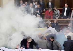 ПР требует привлечь к ответственности нардепов, организовавших беспорядки в зале Рады